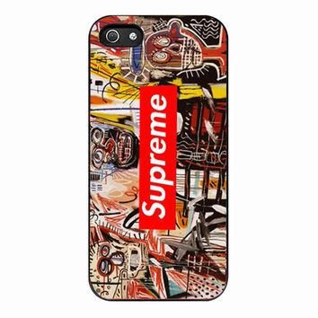 Jean Michel Basquiat art supreme for iPhone 5S Case *01*