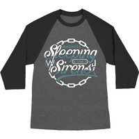 Sleeping With Sirens Men's  Chain Logo Baseball Jersey Grey Rockabilia