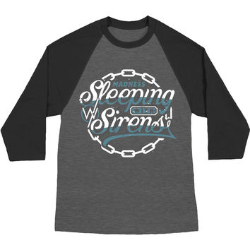 Sleeping With Sirens Men's  Chain Logo Baseball Jersey Grey