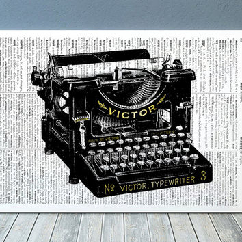 Typewriter poster Office print Retro print Vintage decor RTA965