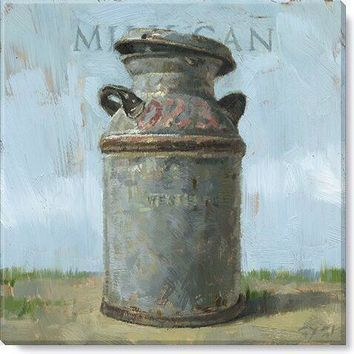 Gallery Wrap on Wood Frame ~ Milk Can