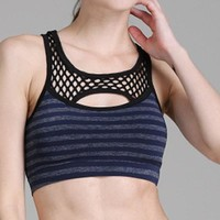 Cut-out front Sports Yoga Running Workout Race Back Bra