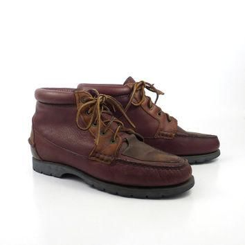 Hiking Moccasin Boots Vintage 1980s Timberland Water Moccasin Leather Boots Women's si
