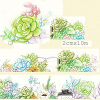 1 Roll of Limited Edition Washi Tape: Succulent plant