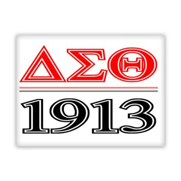 Delta Sigma Theta 1913 Wall Art Canvas