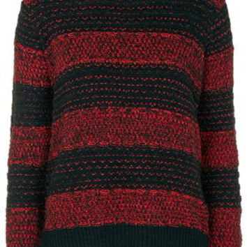 Stripe Grunge Sweater - Black