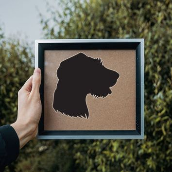 German Rough Haired Pointer Die Cut Vinyl Wall Decal (Permanent Sticker)
