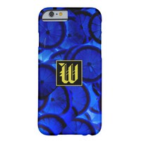 """Refreshing Blue Lemon slices texture with """"W"""" Mono Barely There iPhone 6 Case"""