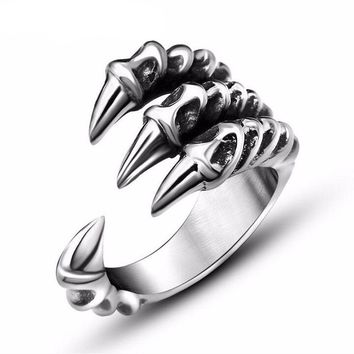 Dragon Claw Stainless Steel Men's Ring