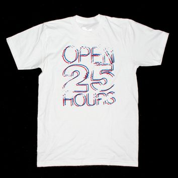 Open 25 Hours ~ Retro 3D ~ Unisex T-shirt by American Anarchy Brand