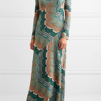 Missoni - Metallic crochet-knit maxi dress