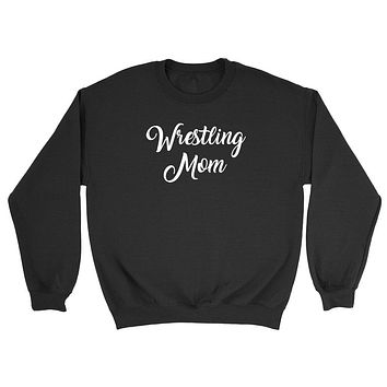 Wrestling mom, workout clothing, gym, fitness, yoga Crewneck Sweatshirt