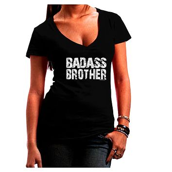Badass Brother Juniors V-Neck Dark T-Shirt