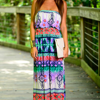 Island Fire Maxi, Purple/Mint