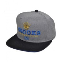 Crooks & Castles 35.00 Crooks & Castles Remarkable Snapback Cap in Grey & Black