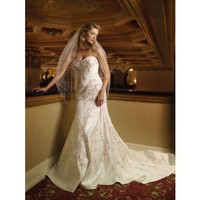 Elegant sleeveless A-line floor-length bridal gowns