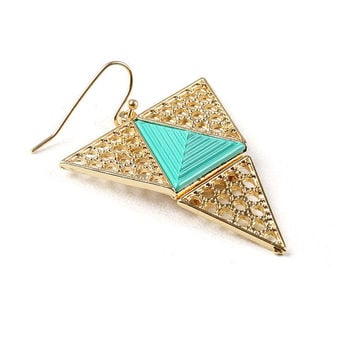 Jaded Triangle Earrings