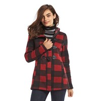 Madden Girl Juniors' Buffalo Check Hooded Jacket
