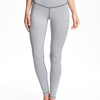 Go-Dry High-Rise Melange Compression Legging for Women | Old Navy