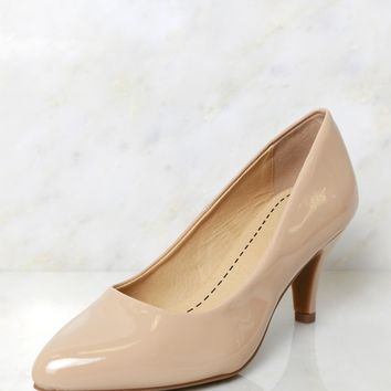 All Dolled Up Pumps Dark Beige