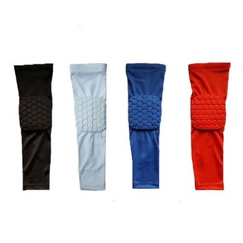 High Quality Basketball Shooting Honeycomb Elbow Pads Protector Support Brace Elastic Sport Safety Arm Sleeve Warmer