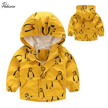 Penguin Rain Coat Windbreaker