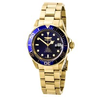 Invicta 8930 Men's Automatic Diver Blue Dial Gold Tone Steel Bracelet Watch
