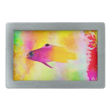 Fish Rectangular Belt Buckle
