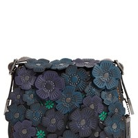 COACH 1941 '23' Flower Appliqué Leather Saddle Bag | Nordstrom