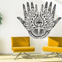 Wall Decal Henna Mehndi Hands Vinyl Sticker Decals Arabic Bahraini Henna Indian Pattern Home Decor Design Interior Dorm Bedroom Art C452