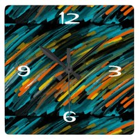 Abstract Art Clocks by Blossom
