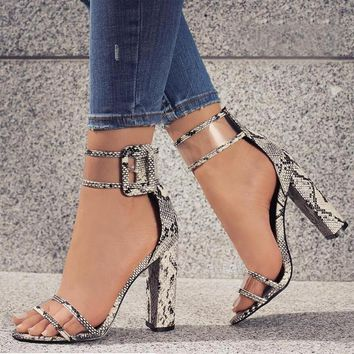 Super High Shoes Sexy Pumps with Transparent Strap Buckle-BUYFYE Members ONLY