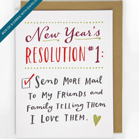New Year's Resolution #1 Card, Box of 8