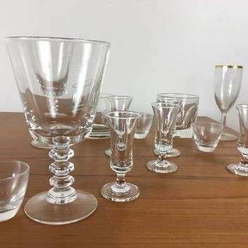 Suite of Contemporary Assorted Glassware, comprised of various goblets, aperitif glasses, snifters, and more