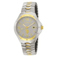 U.S. Polo Assn. Classic Men's USC80054 Two-Tone Analogue Silver Dial Expansion Watch