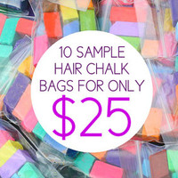 EASTER SPECIAL! 50% OFF 10 Broken Pieces / Sample Packs of Hair Chalk, Temporary Color For Your Hair