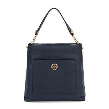 Tory Burch Chelsea Chain Leather Hobo Bag - Royal Navy