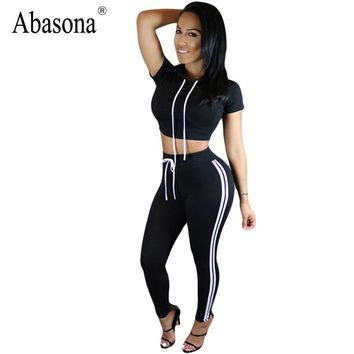 Women Summer 2017 Black Rompers Womens Jumpsuit Bodycon Straps Two Piece Outfits Sportsuit Elegant Slim Sexy Playsuit