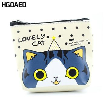 1 Pcs Cartoon Cat Pu Leather Zero Wallet Children Lady Zipper Wallet Pouch Boy Change Pocket Pouch Bag Keys Coin Bag Coin Purse