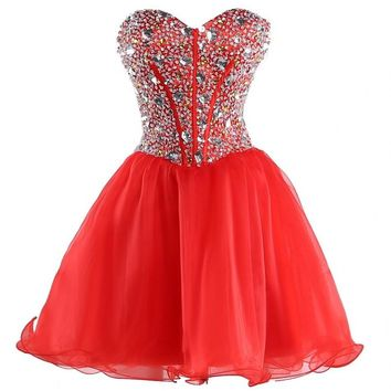 Efashion Women's Party Gala Dance Homecoming Dress Color Red Size 14