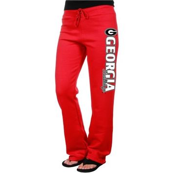 Georgia Bulldogs Ladies Jump Out Pants - Red
