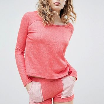 Lazy Days Coral Orange Short Pajamas at asos.com