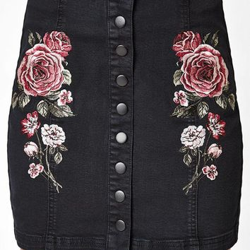 LMFON Kendall and Kylie Snap Front Panel Skirt