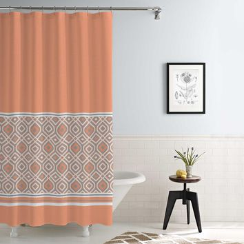 Waterproof Printed Shower Curtain Oxford Stripes