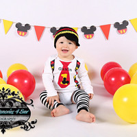 Baby Boys 1st Birthday Outfit, Baby Boys first birthday outfit, Boys CAKE SMASH outfit