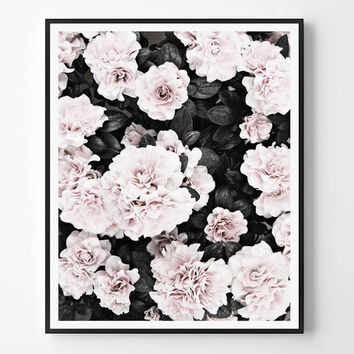 Rose Print, Black and white, Pink, Photo, Fashion print, Minimal photo, Flowers Wall Art, Minimalist Print, Scandinavian Printable, Modern