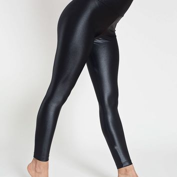 rnt349g - Glossy Nylon Tricot High-Waist Leggings