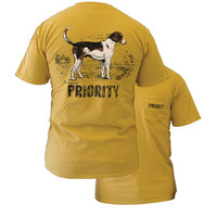 Southern Couture High Priority Foxhound Dog Country Pocket Unisex Bright T Shirt