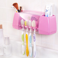 multifunctional  toothbrush holder  storage box bathroom accessories suction hooks tooth brush holder