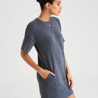 AE T-Shirt Dress, Washed Black